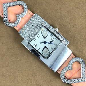 Dolce & Gabbana Accessories - DOLCE & GABBANA D&G Watch Pink Leather & Crystals